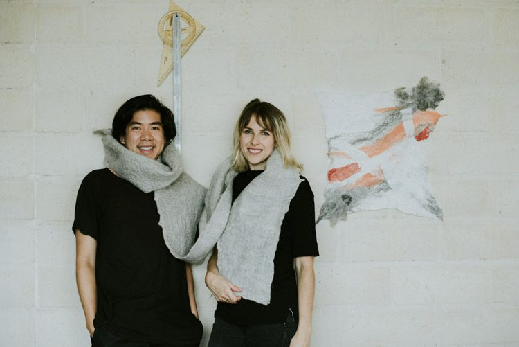 Sean Tran and Grace Wood in the Studio