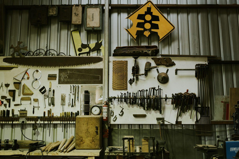 Michael Hoffman's Lawson studio full of tools