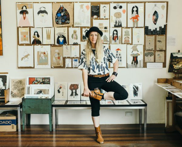 Illustrator Emma Magenta in her Blackheath Studio