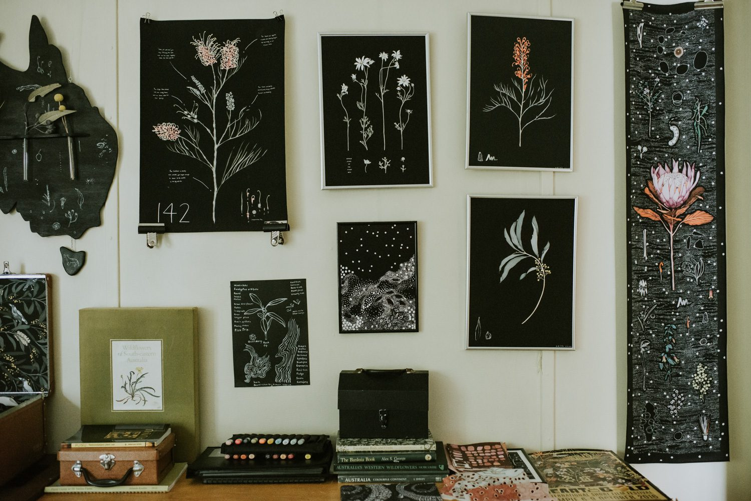 Illustrator Edith Rewa in her Blackheath studio