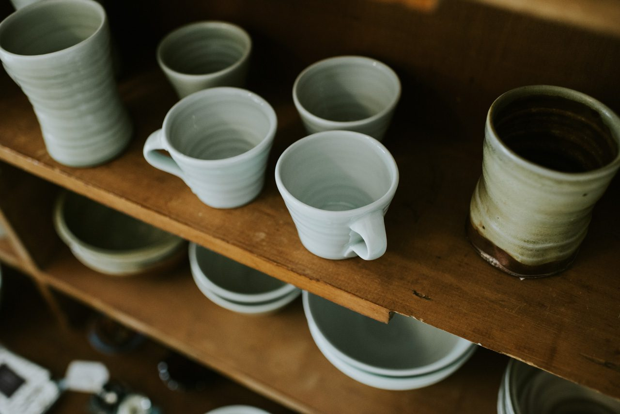 Ceramic cups at Lyttleton Stores Lawson