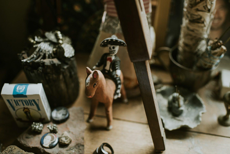 Curios in Emma Magenta's studio