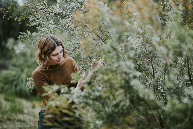 Edith Rewa Illustrator looking at plants