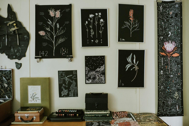 Illustrator Edith Rewa in her Blackheath studio