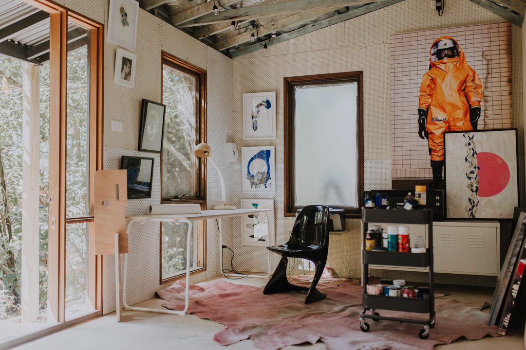 Harold David Photographer in his Blackheath painting studio conversion