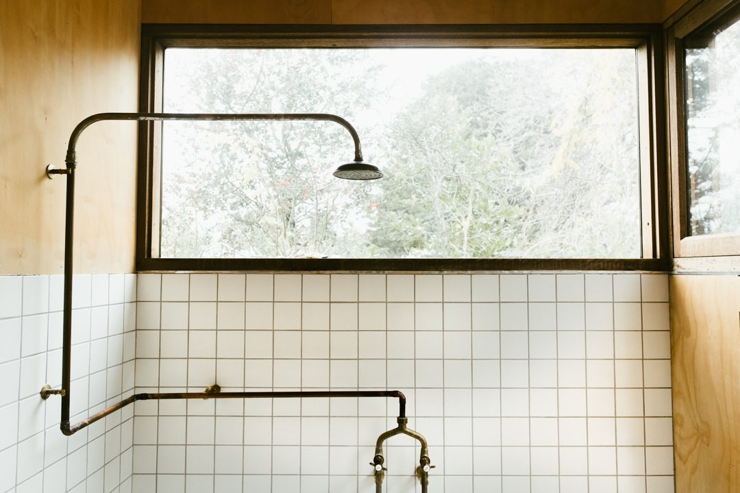 The bathroom of Katoomba Architect Hugo Moline's house