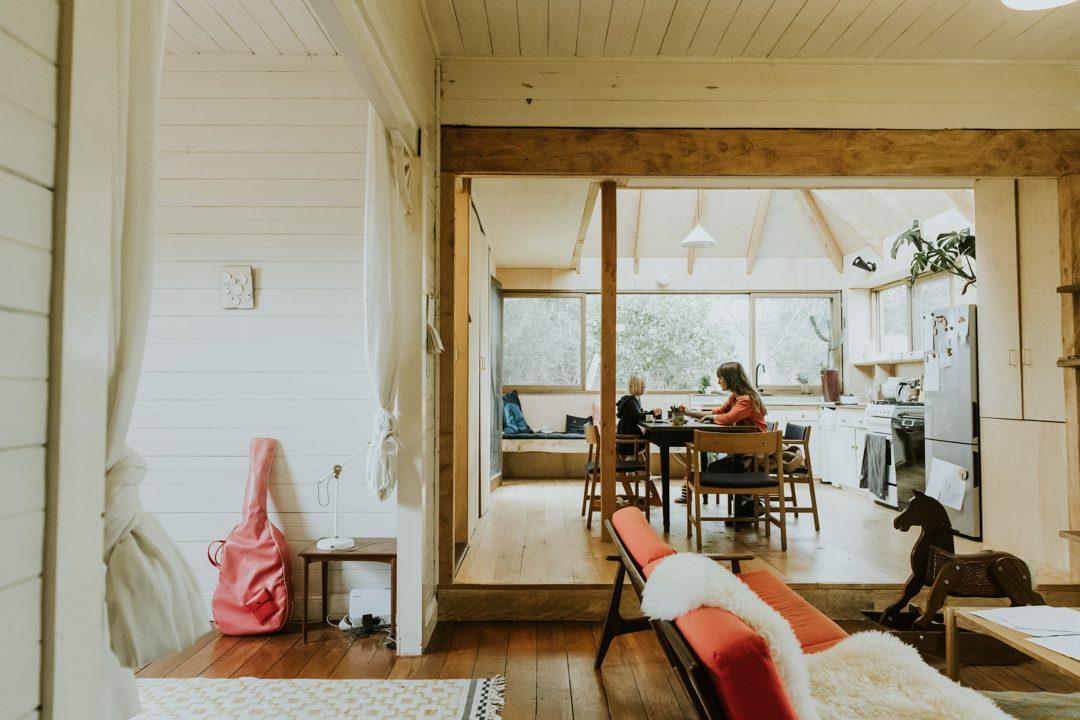 Artist Heidi Axelson in Katoomba house