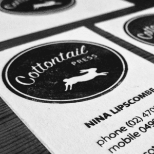 Cottontail Press business card
