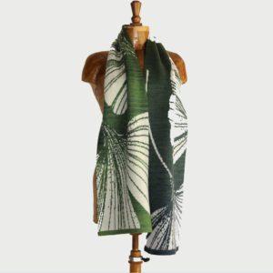 Virginia Burrows fabric designs on a mannequinn