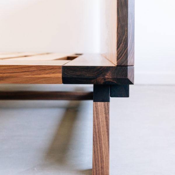Artisan woodwork table detail